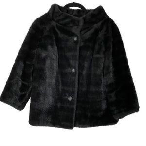 Black Faux Fur Vintage Styled by Winter Collection